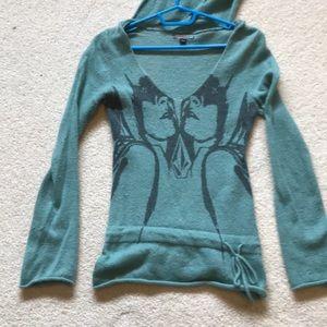 Volcom teal wool sweater